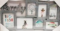 Фоторамка коллаж Family 7фото (10*15-4,10*10-1,15*20-1,13*18-1) бел/под дерево/серый 36V9-3