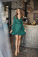 Платье французский трикотаж рюш 3035 норма  Алк