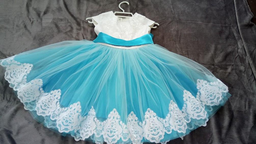 ac7842b94e95 Бальное платье для девочки Беби-Кружево голубое - Подарункова майстерня  Kompliment в Днепре