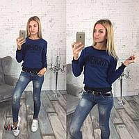 Теплый женский свитер из шерсти