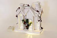 Декоративный домик с подсветкой (10 LED-ламп) 26 см