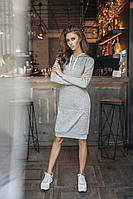 Платье с капюшоном ангора норма  3041 Алк