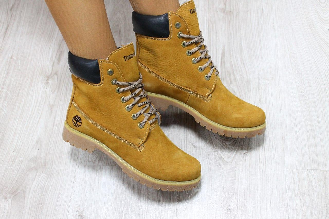 f697cb83 Зимние женские ботинки Timberland бежевые 38 -