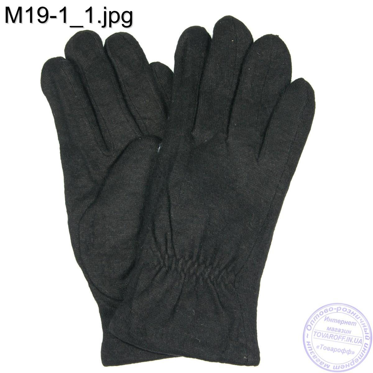 Оптом мужские кашемировые перчатки с махровым утеплителем - M19-1