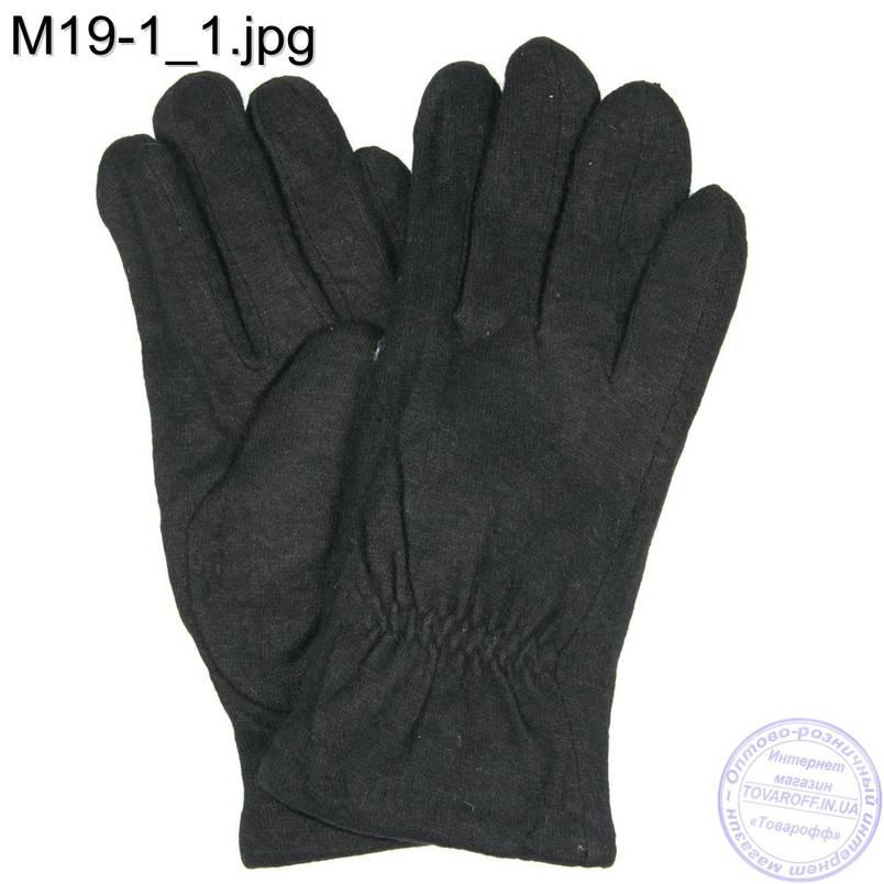 Мужские кашемировые перчатки с махровым утеплителем - M19-1, фото 2