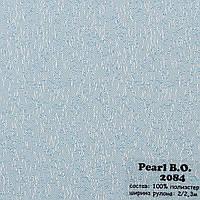 Рулонные шторы Одесса Ткань Pearl блэк-аут Голубой 2084