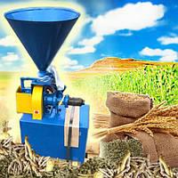 Экструдер зерновой шнековый однофазный КЭШ-2 (220В, 3,7кВт, 40 кг/час)