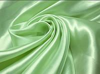 Атлас (зеленая мята) ткань.