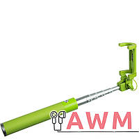 Селфи палка K4 зеленая
