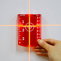 Мишень магнитная для красного лазерного луча уровня (нивелира), фото 1