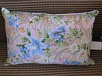 Подушка гусиное перо 50х705% кант мягкая лёгкая натуральная