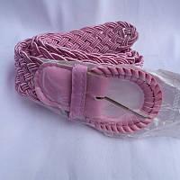 Ремень женский ПЛЕТЕНКА РОЗОВЫЙ 40мм купить в Розницу дешево в Одессе 7км модные качественные