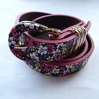 Ремень женский цветы кожзам 20мм купить в Розницу дешево в Одессе 7км модные качественные