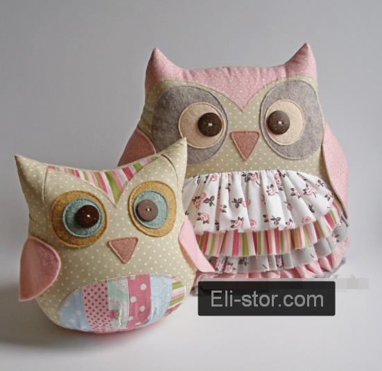 Подушка іграшка - Совушка і совеня