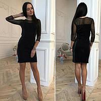 Женское модное платье стрейч  ( нитка  с  напылением  -  чешуя )