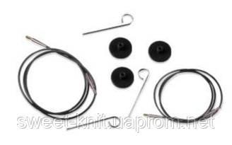 Кабель черный для создания круговых спиц  KnitPro