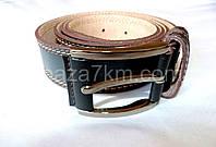 Мужской ремень коричневый кожа 3,5 см — купить в Розницу в одессе 7км