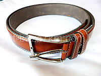 Мужской ремень с.коричневый с прошивкой 4 см — купить в Розницу в одессе 7км