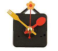 Кварцевые часы, механизм с стрелками ложка-вилка