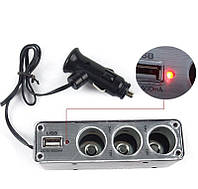 Разветвитель для прикуривателя с USB WF-0096 - USB разветвитель, фото 1