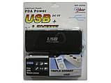 Тройник-разветвитель для прикуривателя с USB WF-0096 - USB разветвитель, фото 3