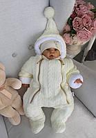 Детский комбинезон для новорожденного «Зимняя сказка» на махре