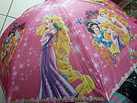 Зонт детский для девочки Принцесса трость полуавтомат качественный