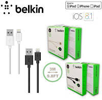 Кабель USB - Lightning cable для  Apple iPhone 5, iPad 4/Mini Belkin 1,2 m