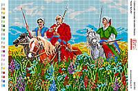 Схема для вышивки бисером 36*28см Тарас Бульба БА3-293 Вишиванка