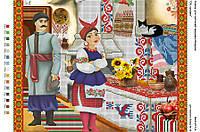 Схема для вышивки бисером 35,5*27,5см Ой сусідко БА3-217А Вишиванка