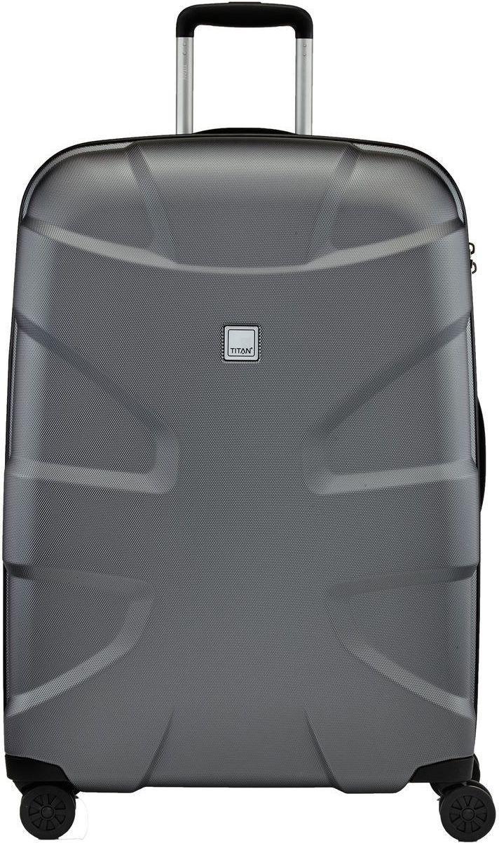 Вместительный пластиковый чемодан гигант на 4-х колесах на 103 л Titan X2 L Ti825404-85, серый