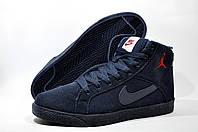 Мужские зимние кроссовки Найк Air Jordan Retro, на меху