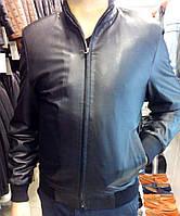Куртка из натуральной кожи, плотная резинка на манжетах и внизу
