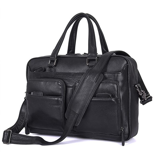 Кожаный портфель для деловых встреч
