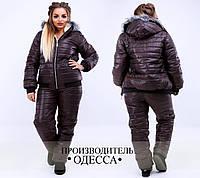 Тёплая куртка с меховой подкладкой