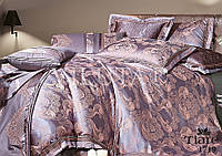 "Комплект постельного белья ""Viluta"" Tiare сатин-жаккард (+4 наволочки) Евро Вилюта № 1719"