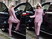Костюм женский в стиле спорт шик из ангоры туника и брюки разные цвета Dm687