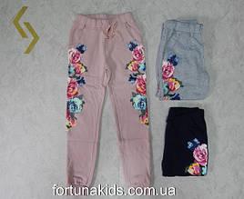 Трикотажные  спортивные брюки утепленные для девочек GLO-STORY 134-164  р.р.