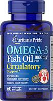 Омега 3 рыбий жир пуританс прайт Puritan's PrideOmega-3 Fish Oil 1000 mg Plus Circulatory Support 60 softgels