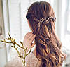 Заколки для волос Ветки, золотистые, 2шт