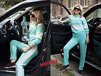 Костюм женский модный в стиле спорт шик свитшот и брюки с лампасами ангора Арктика разные цвета Dm688