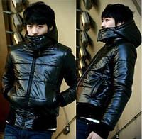 Теплая Куртка  весна-осень _черная