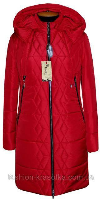 Шикарний жіночий зимовий пуховик,колір червоний