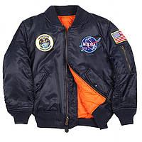 Демисезонная куртка Youth NASA MA-1 Flight Jacket Alpha Industries