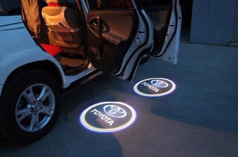 Подсветка в дверь лого