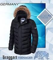 Куртка зимняя для подростка - 7223 чёрный