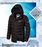 Куртка подростковая Braggart с мехом - 7692 кофе