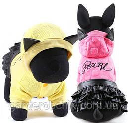 """Платье теплое, толстовка """"Патти"""" для собаки, кошки. Одежда для собак, кошек."""