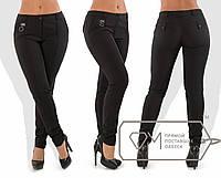 Теплые зауженные брюки больших размеров