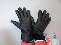 Перчатки кожаные женские зима